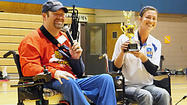 B.A.D. teacher wheelchair race champion