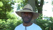 "James Ross is outstanding in his field. Ross laughs easily at the old joke, standing in the middle of a field taking shape as a community garden he is helping to seed, feed and grow in Danville. He sports his trademark straw hat that is as much a part of his persona as is his silky radio voice heard on his ""Gardening with James"" program on WHBN 1420 AM."
