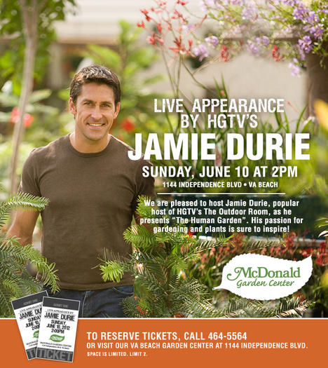 Jamie Durie Of Hgtv 39 S Outdoor Room Appears At Mcdonald Garden Center June 10 Daily Press