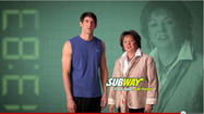 Mom gets slice of Michael Phelps' new Subway ad