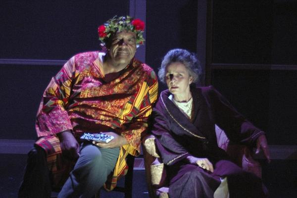 "Gregory Tate, a co-founder of Hartbeat Ensemble, died Sunday in Chicago. He is shown here as the Ghost of Christmas Present in the company's production of ""Ebeneeza: A Hartford Holiday Carol."""