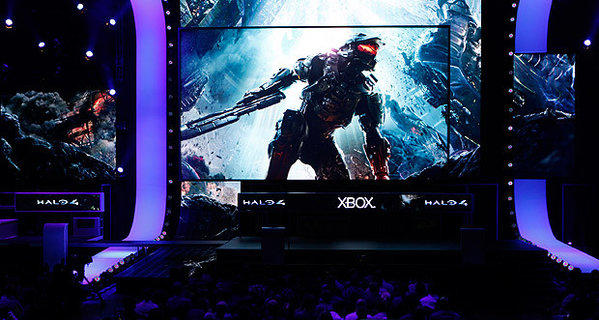 "Microsoft showed off game play of ""Halo 4"" at its E3 2012 press conference at the Galen Center."