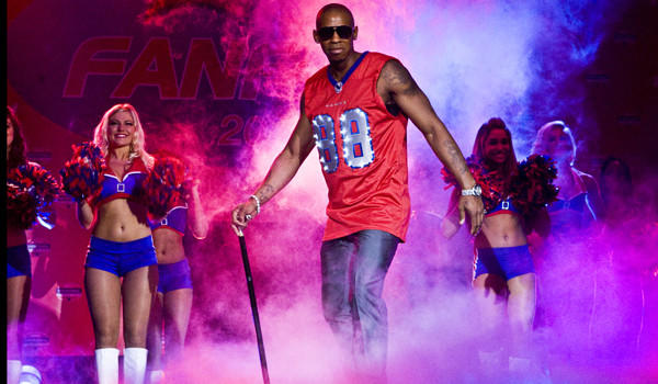 """Terrence King (Mehcad Brooks) isn't dancing in the end zone here, but he usually does in """"Necessary Roughness."""""""