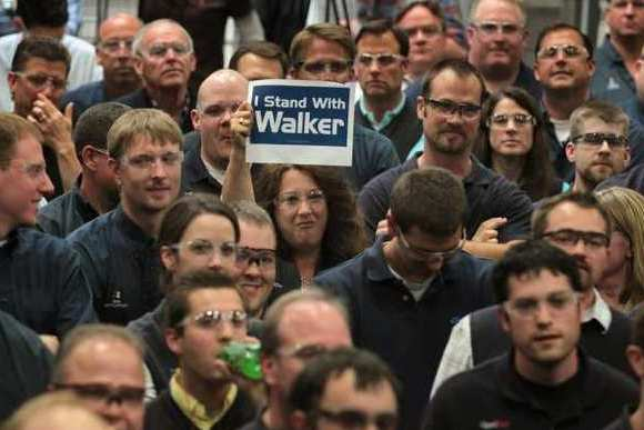 Support for Wisconsin Governor Scott Walker