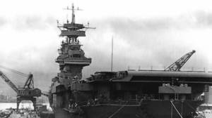 The USS Yorktown took heavy damage at the Battle of Coral Sea