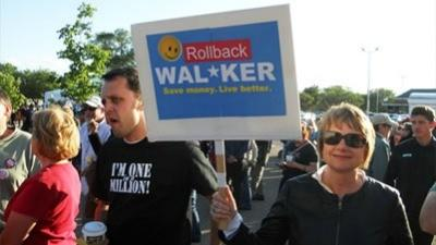 Recall rally in Wisconsin