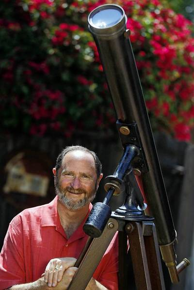 Dan Schechter of USC, a member of the Antique Telescope Society, intends to view Tuesday's transit of Venus with a telescope made in the 1860s.