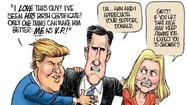 "Donald Trump has taken Mitt Romney into his oily embrace, and let's hope it makes Mr. Romney's skin crawl because, if it turns out he actually does like hanging out with The Donald, we should fear for our country. Can you say ""Vice President Donald J. Trump?"" Kind of burns in the throat, doesn't it?"