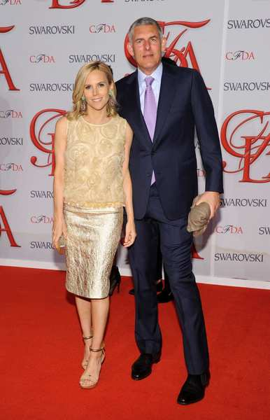 The 2012 CFDA awards red carpet: Tory Burch and guest.