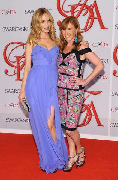The 2012 CFDA awards red carpet: Heather Graham, left, and Nicole Miller.