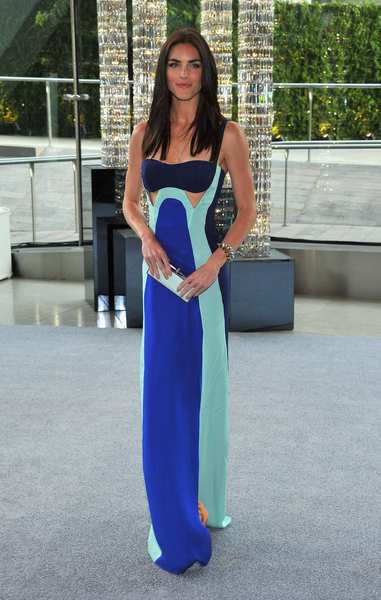 The 2012 CFDA awards red carpet: Model Hilary Rhoda in a Rebecca Minkoff dress and accessories.