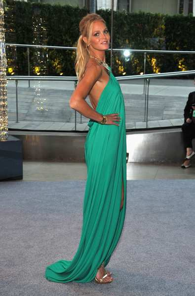 The 2012 CFDA awards red carpet: Model Erin Heatherton in turquoise.