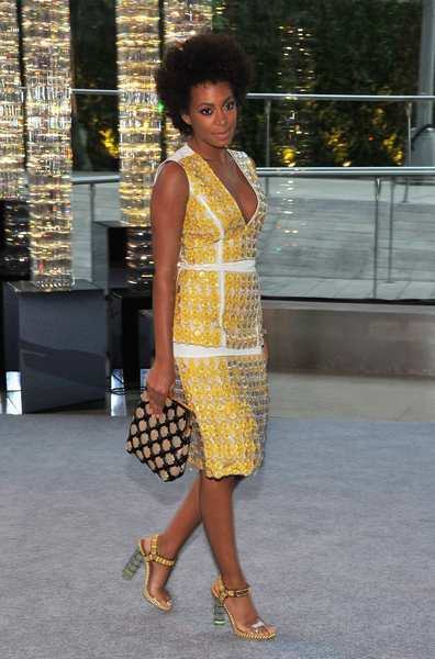 The 2012 CFDA awards red carpet: Solange Knowles in Marni.