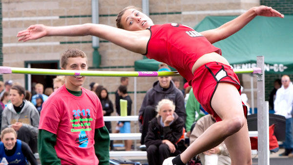 Johannesburg-Lewiston dual-sport standout Abby Schlicher took fifth place in the high jump, earning her All-State honors at the Division 4 State Finals at Jenison High School Saturday. Teammate Meridith DeLuca also was All-State with a sixth-place performance in the 1,600-meter run.