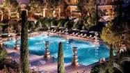 The spectacular fountain-fed pool at Bellagio