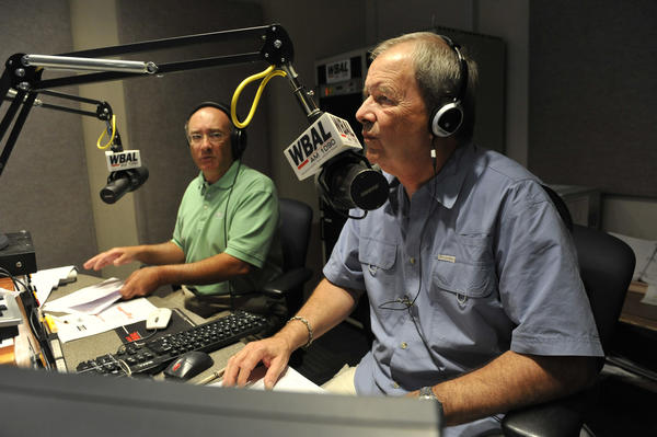Dave Durian (foreground) stepping down from morning drive-time radio