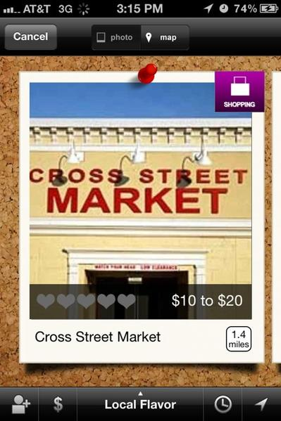 An example of a shopping choice found by Woofound's iPhone app.
