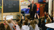 Paul Kundrod teaches students at Forest Hills Elementary School