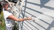 To repaint tin siding, follow these procedures