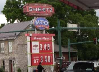 Not factoring in discounts, the Sheetz station at the intersection of East Washington Street and Cannon Avenue had the most expensive regular grade gas Tuesday.