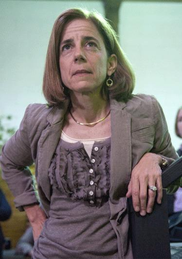 Anne Gust Brown, wife of Gov. Jerry Brown, is seen at a press conference the day after her husband defeated Republican Meg Whitman.