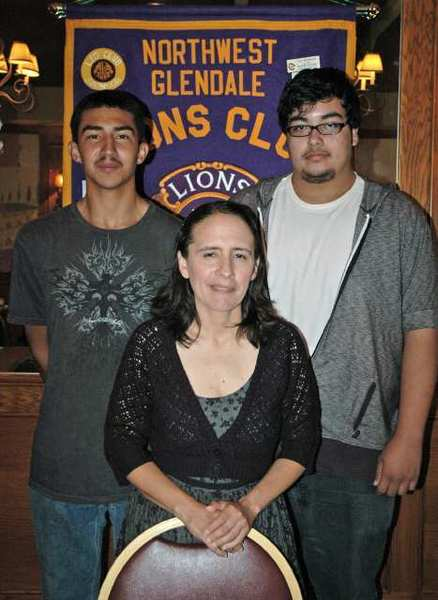Northwest Glendale Lions Club scholarship recipients are, from left, Daniel Marin, Natasha Desianto and David Corral-Mancilla.