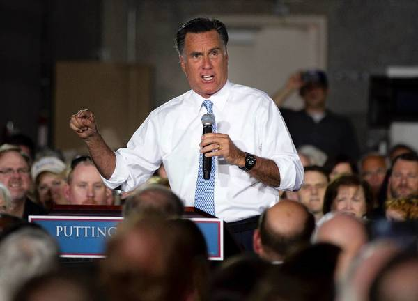 Republican presidential candidate Mitt Romney campaigns in Fort Worth.