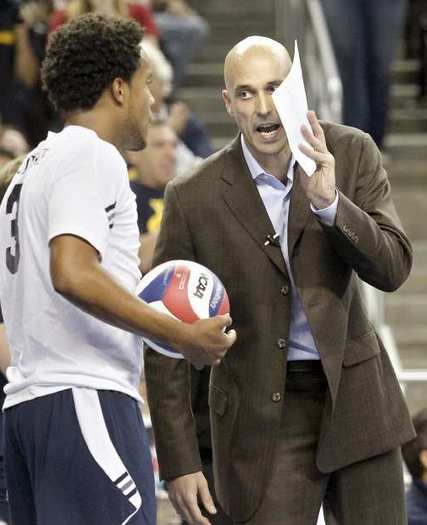 John Speraw, right, has left UC Irvine to coach men's volleyball at UCLA.
