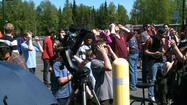 A Venus transit drew hundreds of viewers in Anchorage Tuesday, as the solar system's second-closest planet to the sun passed across its face in a once-in-a-lifetime celestial event.