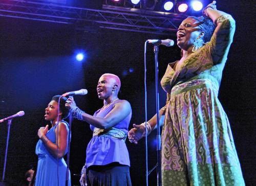 'Sing The Truth!' performed by Lizz Wright, Angelique Kidjo and Dianne Reeves June 16 on the New Haven Green.