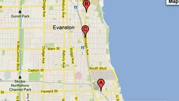 Map of Evanston work
