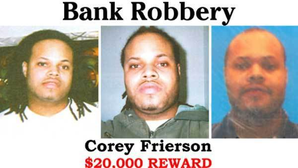 Wanted poster for Corey Frierson