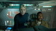 "Nearly all the bits and pieces in director Ridley Scott's""Prometheus"" come from other movies — either one of Scott's or someone else's. More and more, though, I appreciate Scott's fundamental squareness as a filmmaker. ""Prometheus"" may be the""Gladiator"" director's first picture shot digitally and in 3-D, but there's an old-school assurance in the pacing and the design."