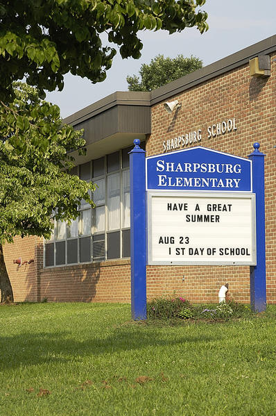 Sharpsburg Elementary School is shown in this 2006 file photo. The Washington County Board of Education has approved a facilities master plan that lists replacement of Sharpsburg Elementary School as the board's third highest school project priority.