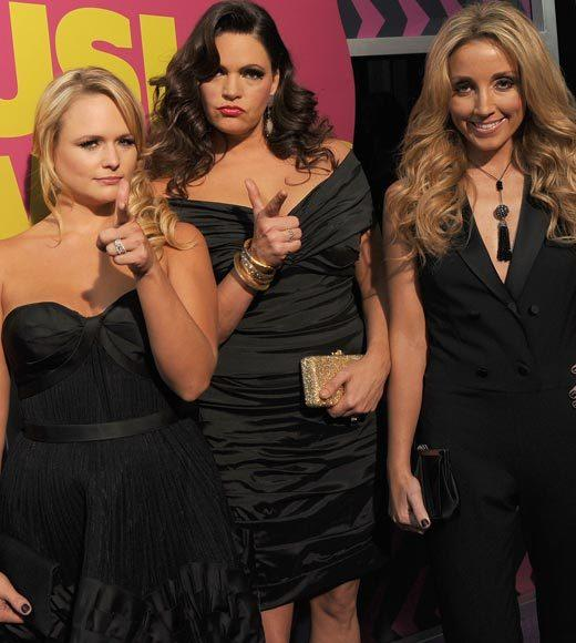 2012 CMT Music Awards red carpet arrival pics: Miranda Lambert, Angaleena Presley and Ashley Moore