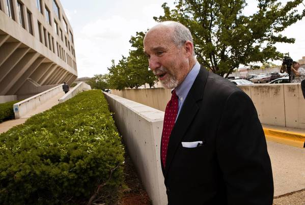Drew Peterson defense attorney Joel Brodsky arrives for a hearing Wednesday at the Will County courthouse. Peterson's attorneys argued that the lawyer of his third wife, Kathleen, should be barred from testifying in Peterson's upcoming murder trial.