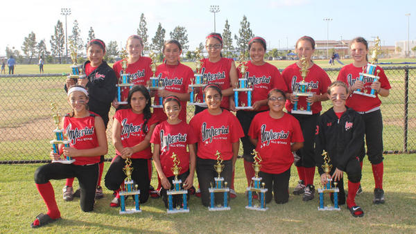 The Imperial 12-and-under All-Star softball team won the 2012 Runaway Classic this past weekend in Mira Mesa.