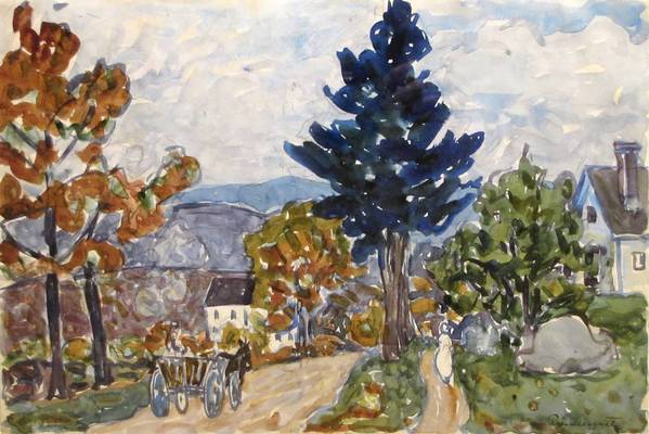 """Early Fall, New Hampshire"" by Maurice Prendergast."