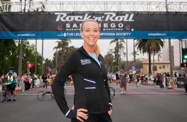 Reality TV star Kate Gosselin poses before the start of the Rock 'n' Roll San Diego Marathon June 3, 2012 in San Diego, Calif.