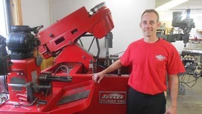 Jerry Neumann owns the new Diamond Performance shop in East Jordan.
