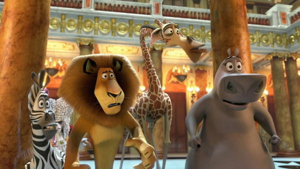 "<b>PG; 1:25 running time</b><br><br> Like the last ""Madagascar"" installment, this one begins right where the previous story left off. Alex the lion (voiced by Ben Stiller), Marty the zebra (Chris Rock), Gloria the hippo (Jada Pinkett Smith) and the rest of the refugees from the Central Park Zoo are still stranded in Africa and yearning to get back where they belong. <br><Br>Read the full <a href=http://www.chicagotribune.com/entertainment/movies/sc-mov-0605-madagascar-3-20120607,0,4451764.story>""Madagascar 3"" movie review</a>"