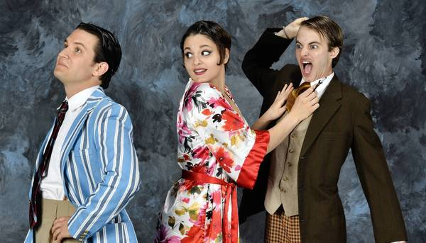 "From left, Robert Arbaugh as Proteus, Zoe Speas as Sylvia and Kyle Curry as Thurio star in Virginia Shakespeare Festival's ""The Two Gentlemen of Verona"" onstage June 13-July 8 at Phi Beta Kappa Hall at the College of William and Mary."