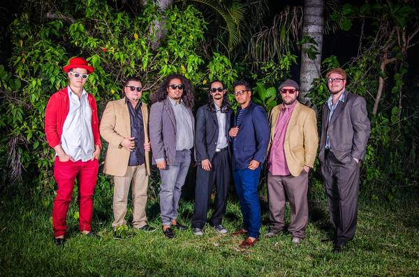 From left, bassist Matt Pyatt, percussionist Danny Naval, vocalist Jason Joshua Hernandez-Rodriguez, drummer Andres Sanchez, tambourine player Karim Milan, keyboardist Charles Gardner and saxophonist Robert Smiley. Ketchy Shuby will play Friday, June 8, at Purdy Lounge in Miami Beach tonight and June 15 at the Stage in Miami.
