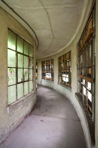 The hospital on Ellis Island once housed the largest operation for the U.S. Public Health service. Now the hospital is slowly deteriorating.