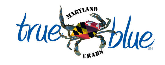 True Blue logo for places selling Maryland crab