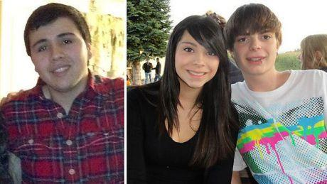 Brian Herrera, 19, left, Alexis Banuelos, 18, and Tyler Montgomery, 19, were killed in a crash Monday near Oswego.