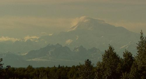 Denali, North America's tallest peak, is visible from Talkeetna on a clear day.