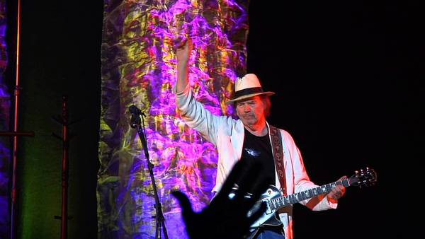 """Neil Young in the movie """"Neil Young Journeys."""""""