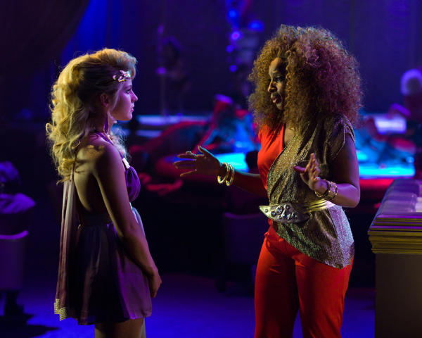 "Julianne Hough as Sherrie Christian and Mary J. Blige as Justice in New Line Cinema's rock musical ""Rock of Ages."""
