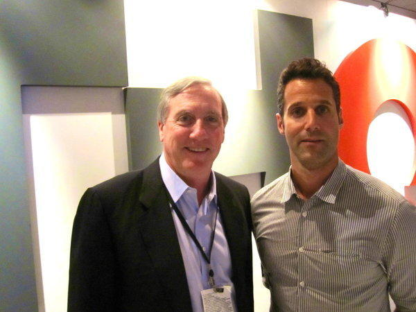 Brian Farrell, left, THQ Inc.'s chief executive, and Jason Rubin, THQ's newly appointed president, at the E3 convention in Los Angeles.